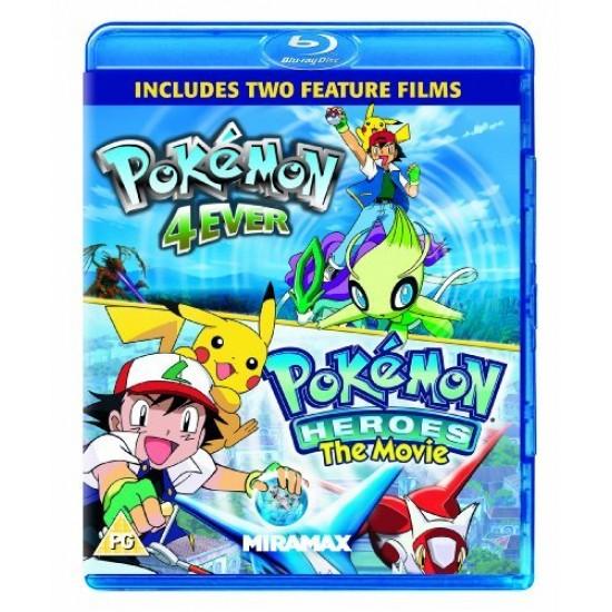Pokemon Heroes Pokemon 4ever Blu Ray Movie Twinpack
