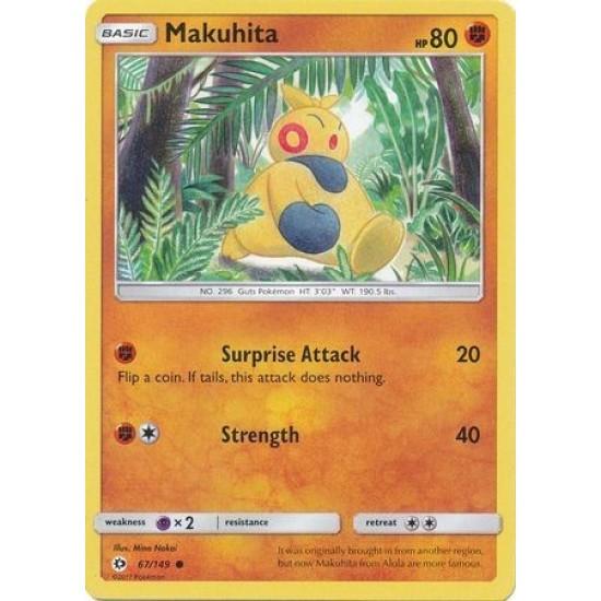 67//149 MAKUHITA REVERSE HOLO POKEMON SUN /& MOON CARD