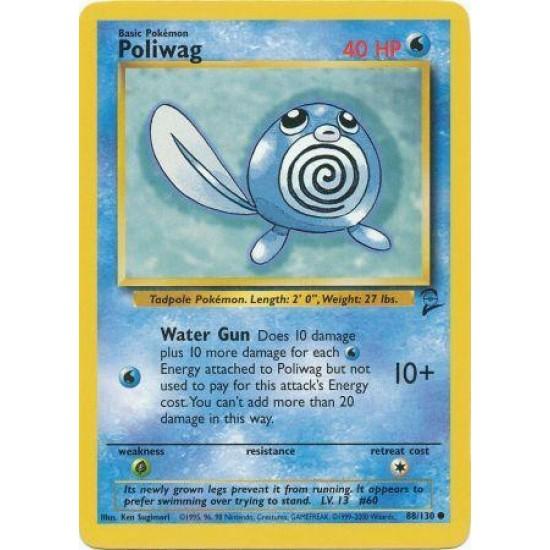 Pokemon Base Set 2 Common Card #88//130 Poliwag