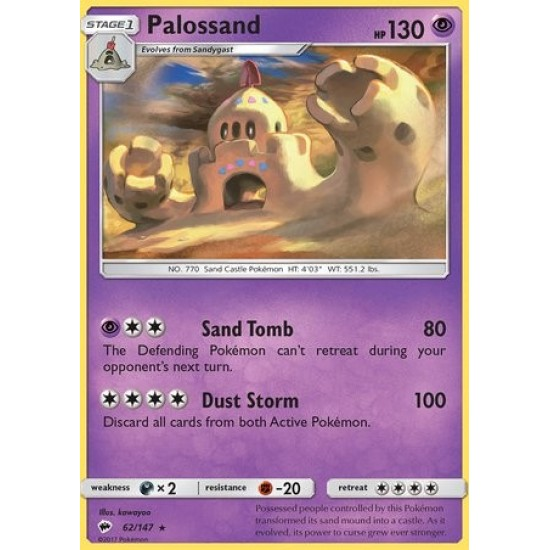 Pokemon Burning Shadows Palossand Holo rare!