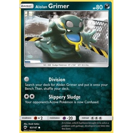 4 x Alolan Grimer Common Burning Shadows 83//147