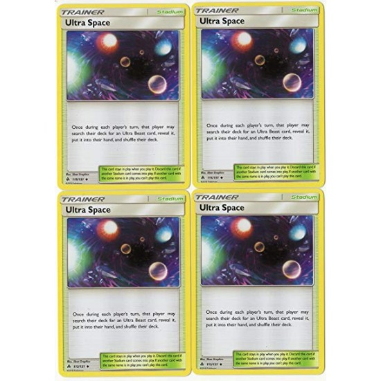 4x Pokemon TCG Forbidden Light Ultra Space 115//131 Uncommon Trainer Card