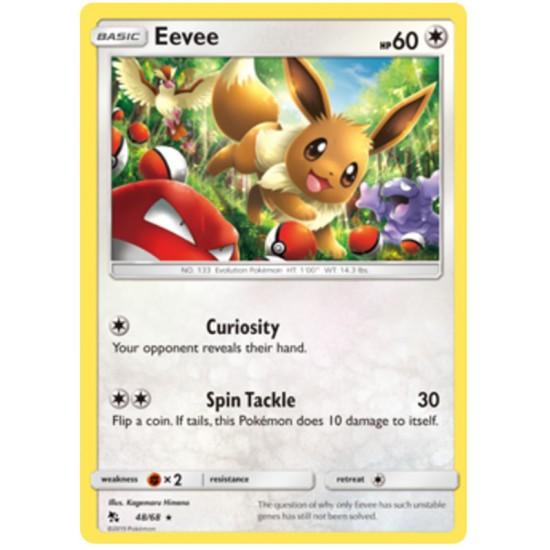 Eevee 48 68 Rare Reverse Holo Pokemon Card Hidden Fates