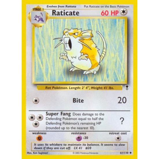 Raticate 61/110 Uncommon Pokemon Card (Legendary Collection