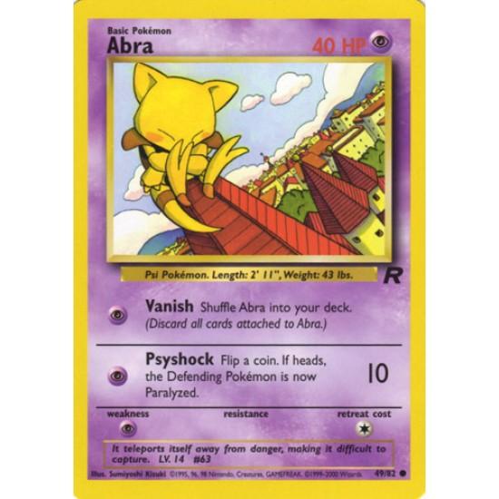 MINT Pokemon ABRA 49//82 1st Edition Team Rocket