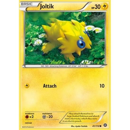 POKEMON XY STEAM SIEGE CARD JOLTIK 41//114 REVERSE HOLO